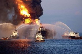 Oil Rig Explosion Fire